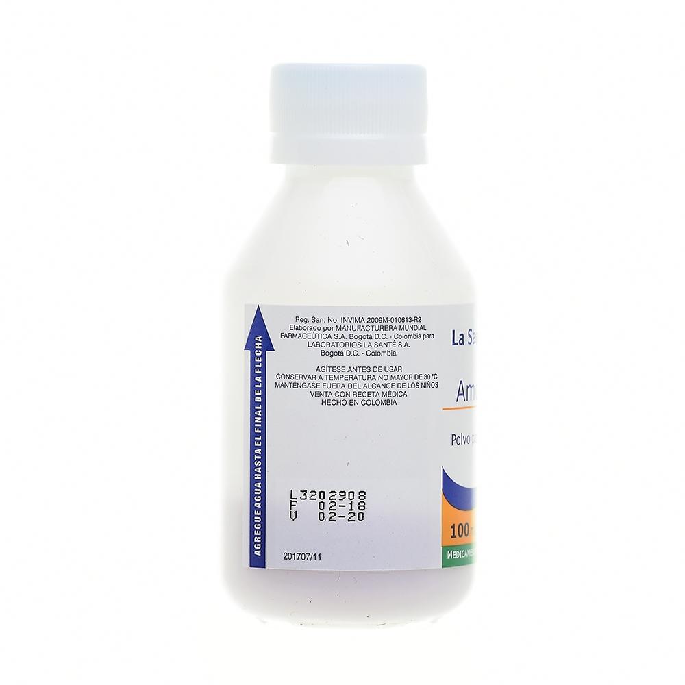 AMOXICILINA 250MG/5ML POLVO PARA SUSPENSIÓN X100ML