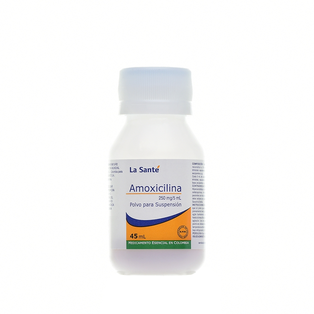 AMOXICILINA 250MG/5ML POLVO PARA SUSPENSIÓN X45ML