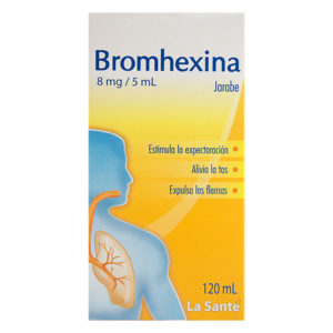 BROMHEXINA 8MG/5ML JARABE EN FRASCO X120ML