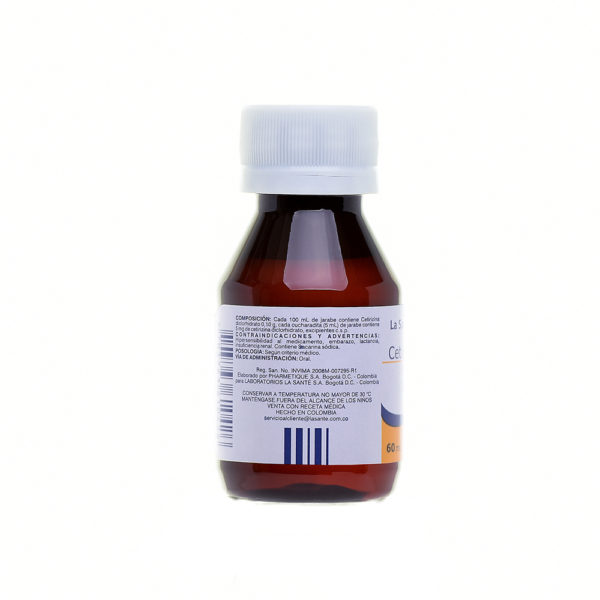 CETIRIZINA 1MG/1ML JARABE EN FRASCO X60ML