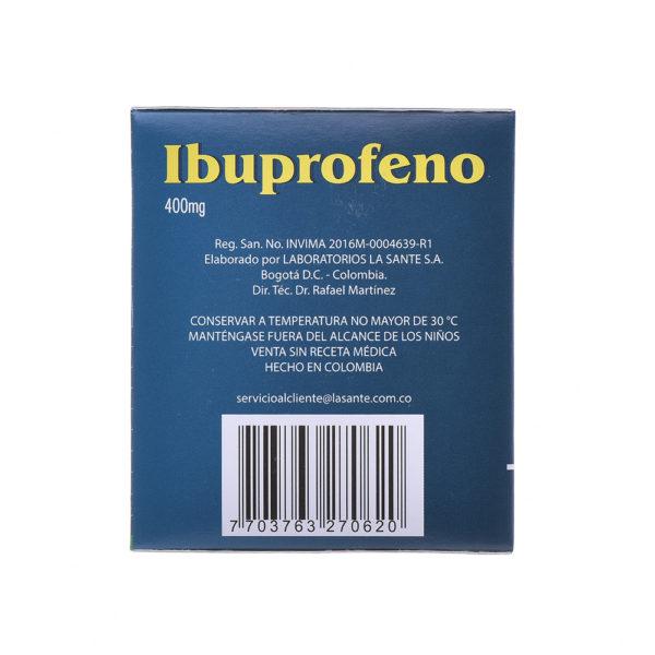 IBUPROFENO 400MG TABLETAS X100