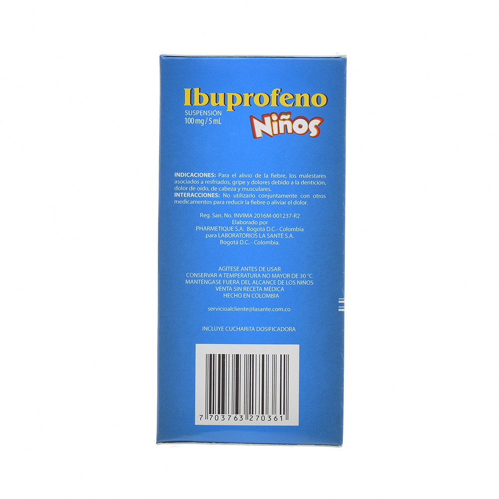 IBUPROFENO 100MG/5ML SUSP FCOX120ML COL