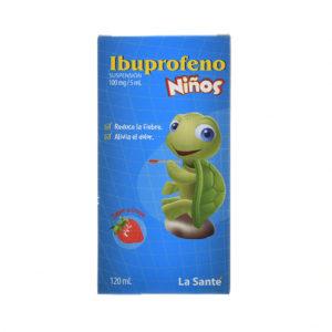 IBUPROFENO 100MG/5ML SUSPENSIÓN FRASCO X120ML