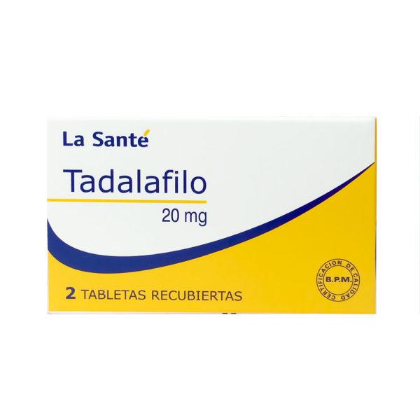 TADALAFILO 20 MG TAB REC X 2 COL