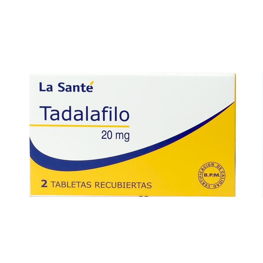 TADALAFILO 20 MG TABLETAS RECUBIERTAS X 2
